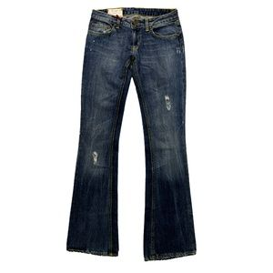 Dondup Low-Rise Flared Leg Jeans w/ Tags, Blue